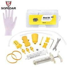hot deal buy sopedar ez's bicycle hydraulic brake bleed tool kit for shimano & magura & tektro mt series brake system use mineral oil brake