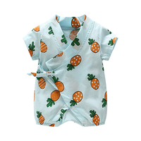 New Style 2017 Cotton Infant Baby Rompers Short Sleeve Printed Belt Baby One-Pieces Suit for Newborn Girl Boy Rompers Clothes