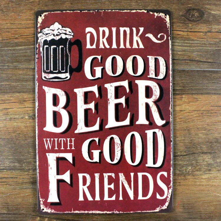 Free shipping Vintage metal tin sign painting Beer retro home decor bar cafe poster iron crafts TK-0196 antique plaque 20x30cm