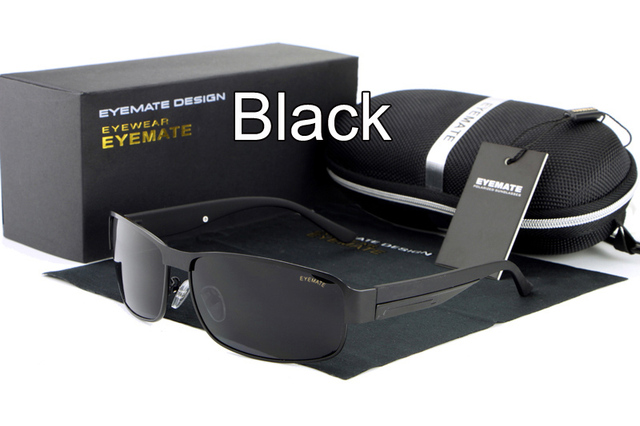 c67ed1399ab HDCRAFTER Sunglasses Men Polarized Rectangle Sun Glasses fo Men Gold Black Brown  Color Brand Designer Gafas Oculos De Sol UV400