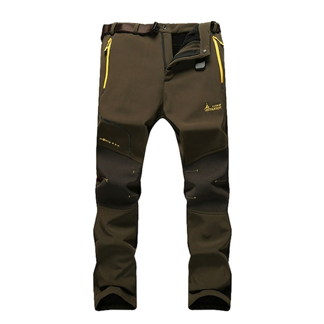 Plus Size 2017 Brand Mens Elastic Trousers Casual Waterproof Warm Thick Soft Pants Long Trouser High Quality