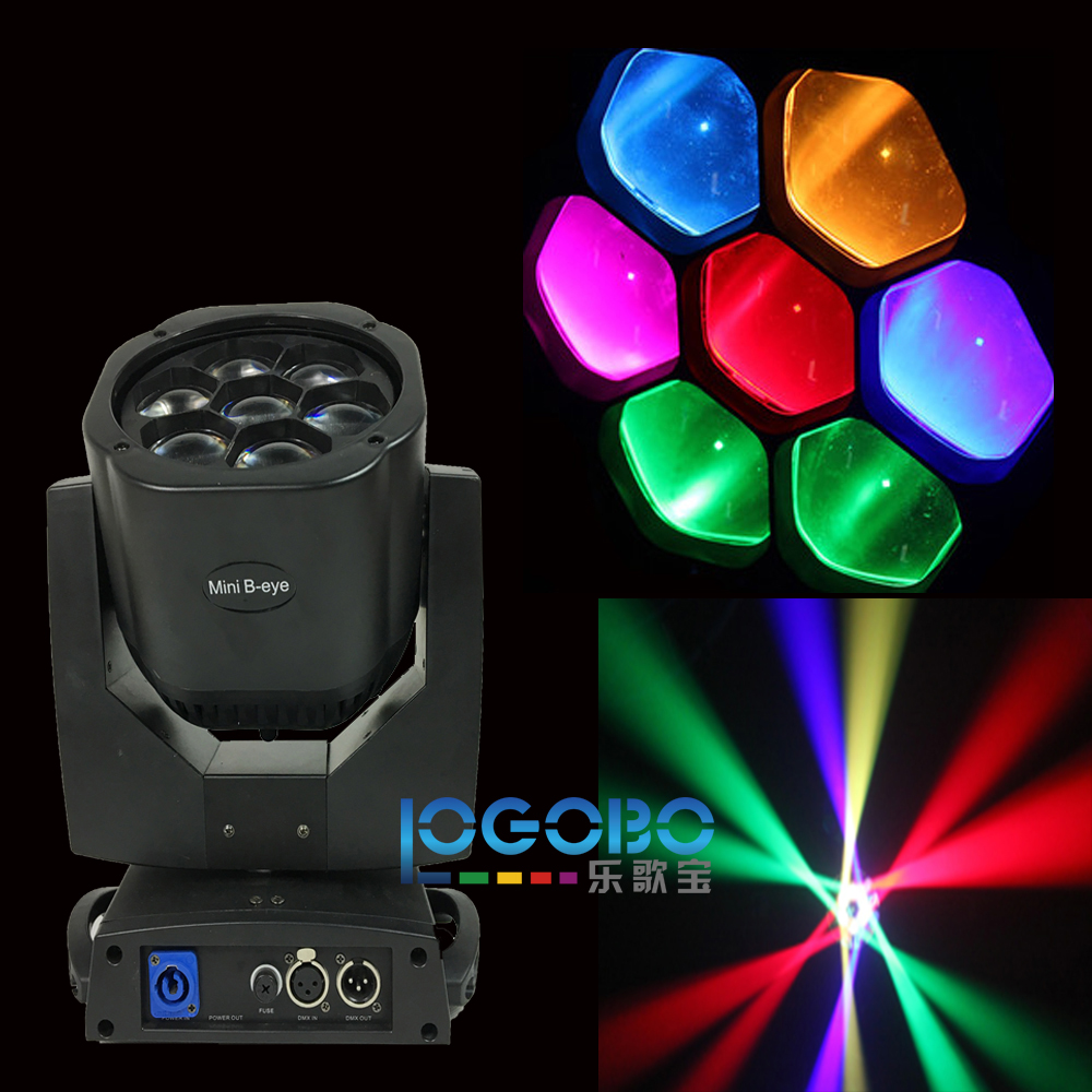 Led Mini Moving Head Wash 7x15W RGBW LED Beam Light Stage Uplighting TipTop Som Profissional Strobo Iluminacao DJ, 4PCS/Lot
