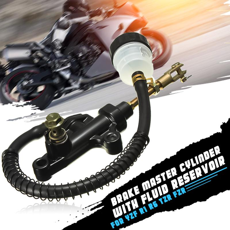 Motorcycle 14mm Rear Brake Clutch Lever Pump Master Cylinder Fluid Reservoir For Yamaha YZF R1 R6 1998 2005|Levers  Ropes & Cables| |  -