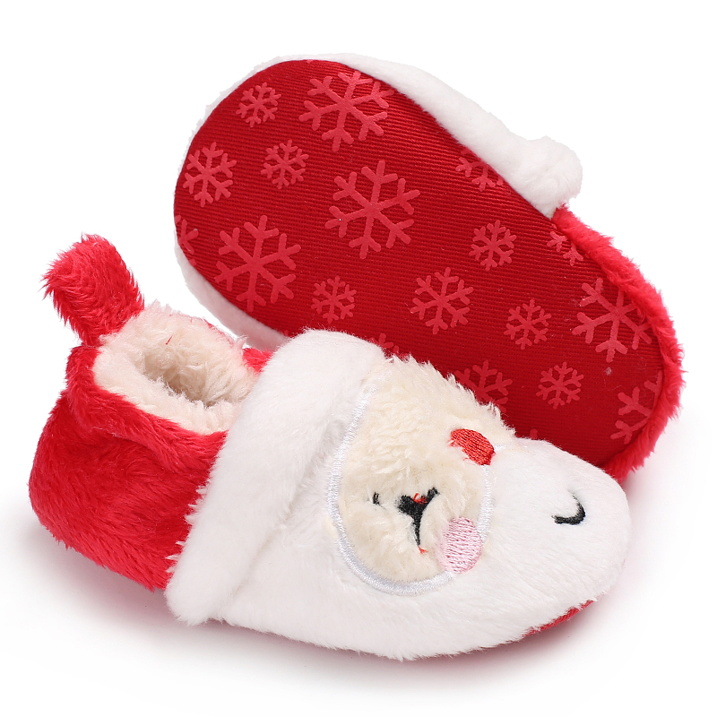 935627e84f Detail Feedback Questions about Red Christmas Elf Winter Children Girl  Shoes Baby Boy Booties Xmas Santa Toddler Moccasins Sneakers Warm First  Walker Kids ...