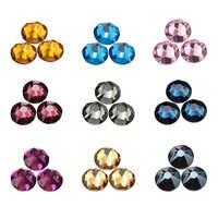 Qiao 8 grande 8 pequeno quente fix cristal colorido strass vidro hotfix strass pedra ferro em strass para roupas de fixação quente
