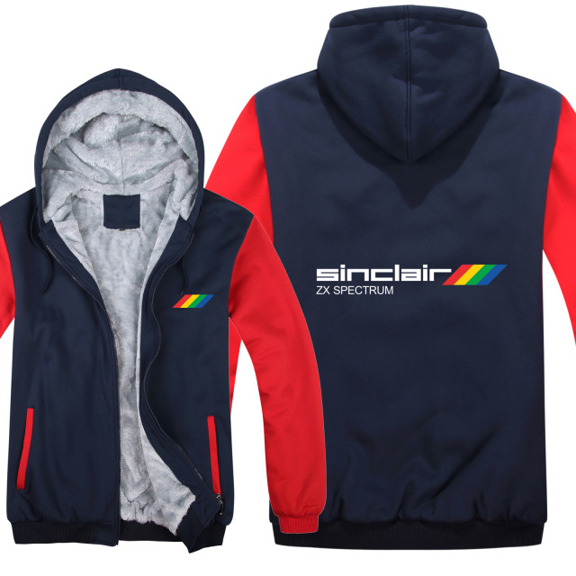 Sinclair Zx Spectrum Hoodies Winter Men Pullover Wool Liner Jacket Thicken Sinclair Zx Spectrum Sweatshirts