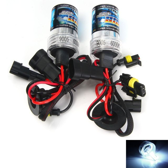 High quality 9005 Car Headlight Bright White Light with HID Xenon Auto Headlamp 2pcs 35W 6000K 3600lm Car Headlamp for Vehicle