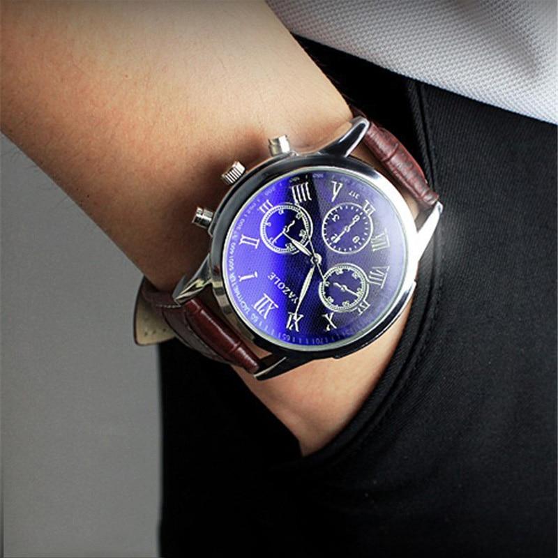YAZOLE Hombres Reloj de Negocios Militar Impermeable de Cuero de LA - Relojes para hombres