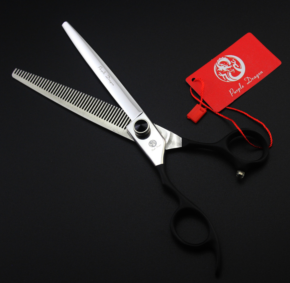 2016 Classic 7.0-inch left-handed Zi upscale pet grooming  teeth cut thinning scissors pet repair hair cut foreign trade section free shipping sfu1605 rolled ball screw c7 with 1605 flange single ball nut for cnc parts rm1605 for different length