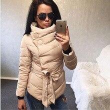 2017 New Arrival Women Autnmn Winter Down Coats Fashion Belt Parkas Warm Long Seelevess Solid Jackets Female Outwear