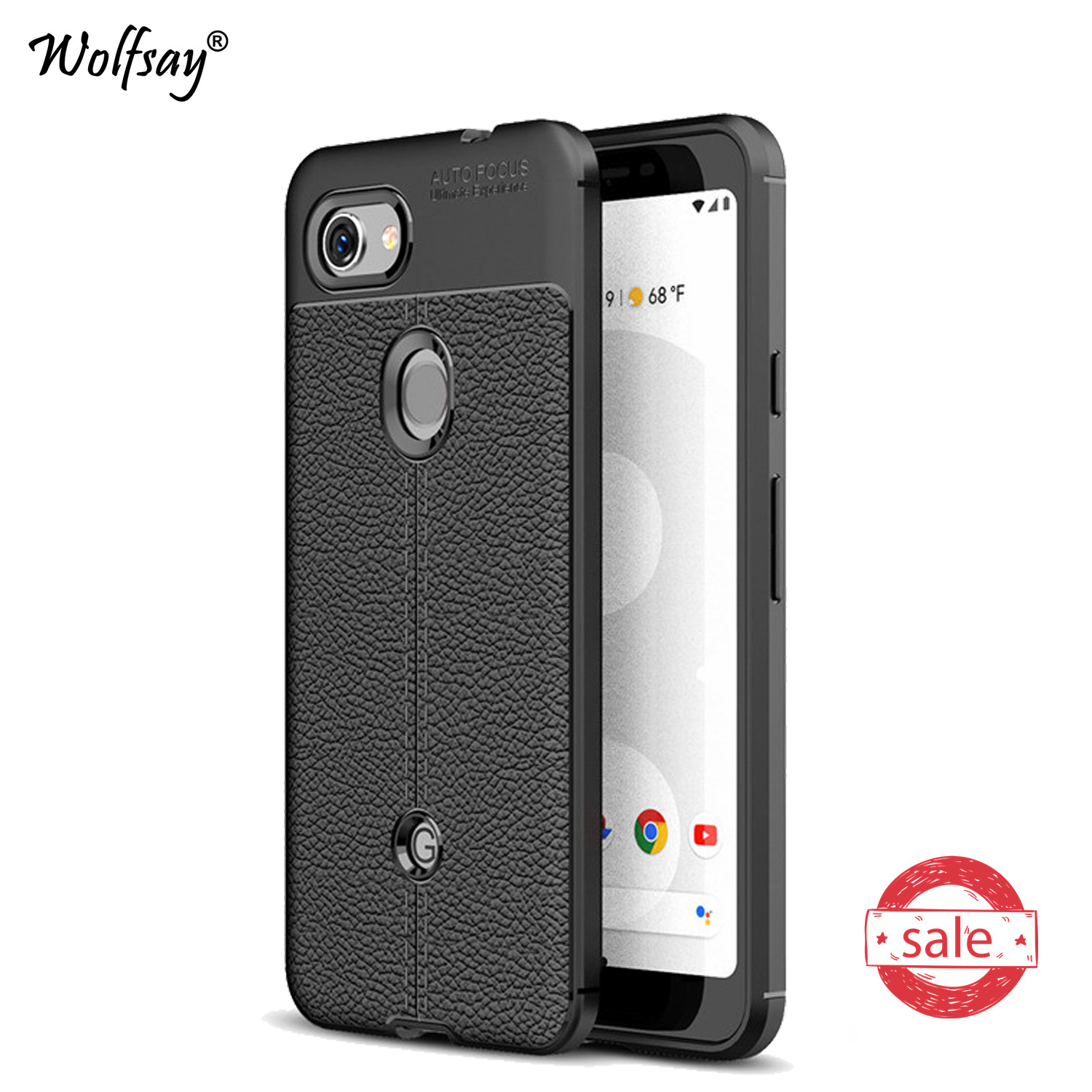 For Google Pixel 3a Case Luxury Armor Soft Rubber Silicone