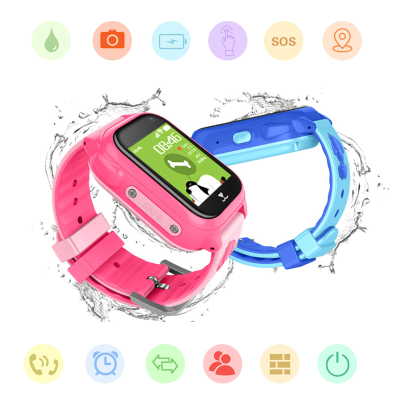 Kids Smart watches GPS Positioning Boys' Watch Girl's Watch SOS Long Standby Phone Watch with Camera for IOS & Android(China)