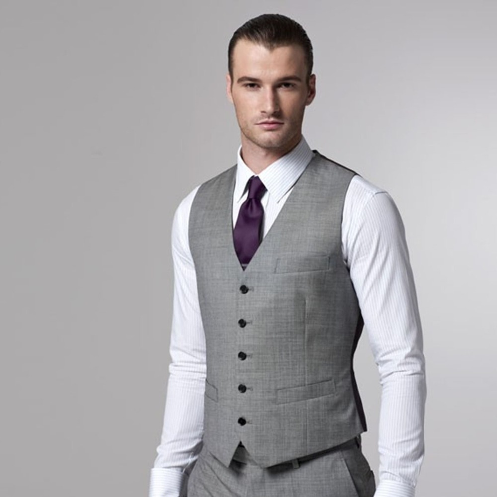 Vest Men With Pants Custom Made Dress Vests For Men 2018 Tailored Groom Wedding Waistcoat and Pants