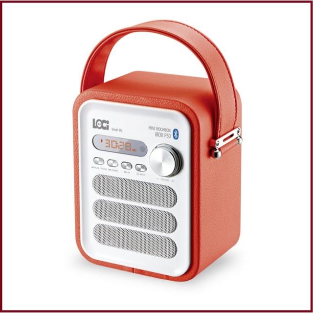 P50 Multifunción de Cuero Retro Altavoz Bluetooth Con Radio FM