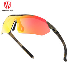 WHEEL UP Polarized Sports Men Sunglasses Road Cycling Glasses Mountain Bike Bicycle Riding Protection Goggles Eyewear