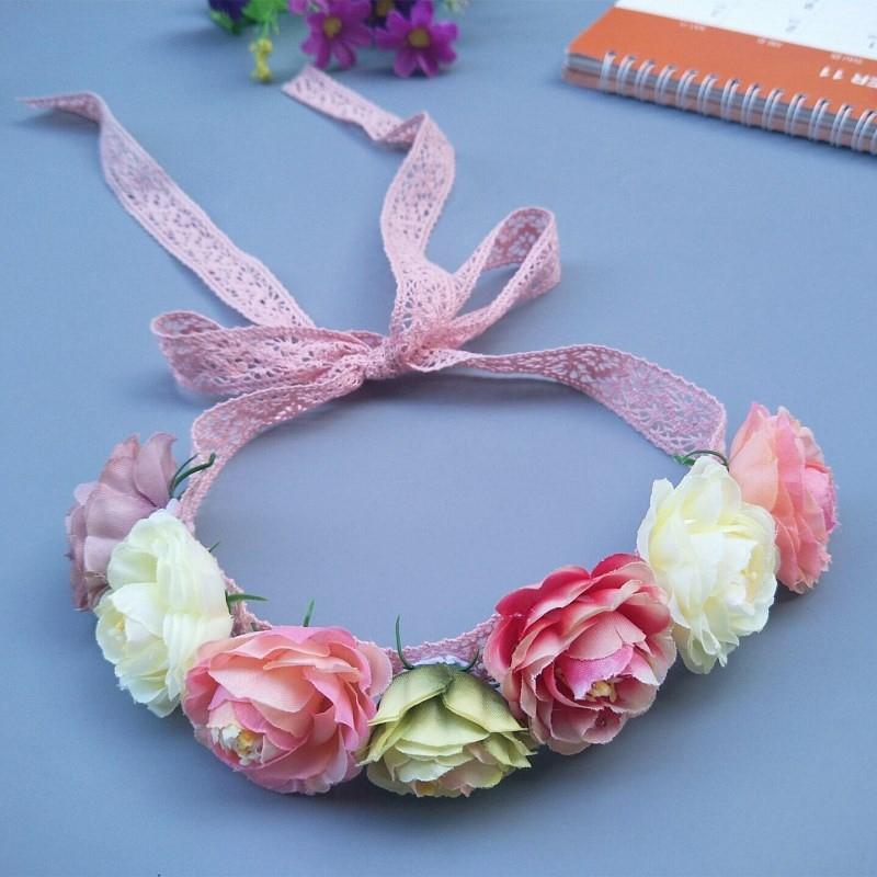 Baby Flower Headband Newborn Headband Hairwear Flower Mother Kids Matching Garland Hair Band Accessories