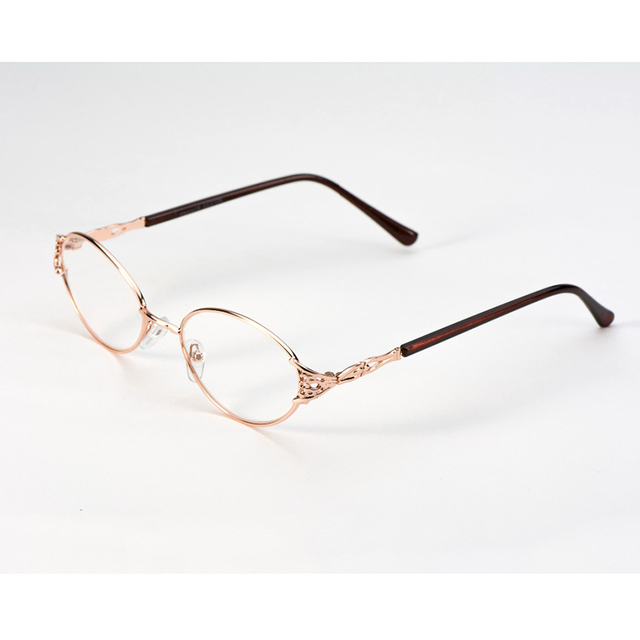 f7d28692be New Fashion Women Metal Reading Glasses Ladies Hollow Carved Full Frame Reading  Glasses for sight gafas Diopter+1.00-+4.00 B2