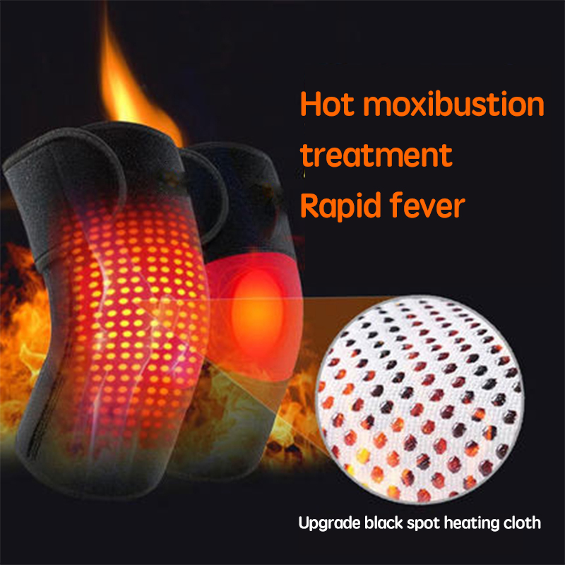 2019 New Style Self-heating Warm kneeling Far infrared magnet magnetic therapy knee protector For Cold Pain injured Knee
