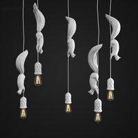 The Nordic Squirrel Pendant Lights Lamp Children's Room Kitchen Led Hanglamp Modern Loft Industrial dining room Hanging Fixtures