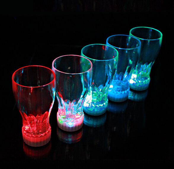Party Supplies 100pcs/lot Luminous Cup Led Light Cup Beer Flashing Coke Cup bar LED toys