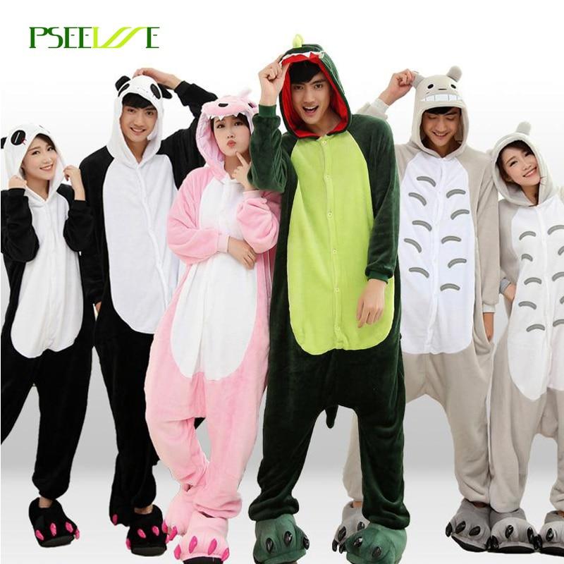 PSEEWE Winter Pajama sets Women Sleepwear unicorn Panda stitch onesies for adults Animal Pajamas Cartoon Cosplay Unisex Homewear