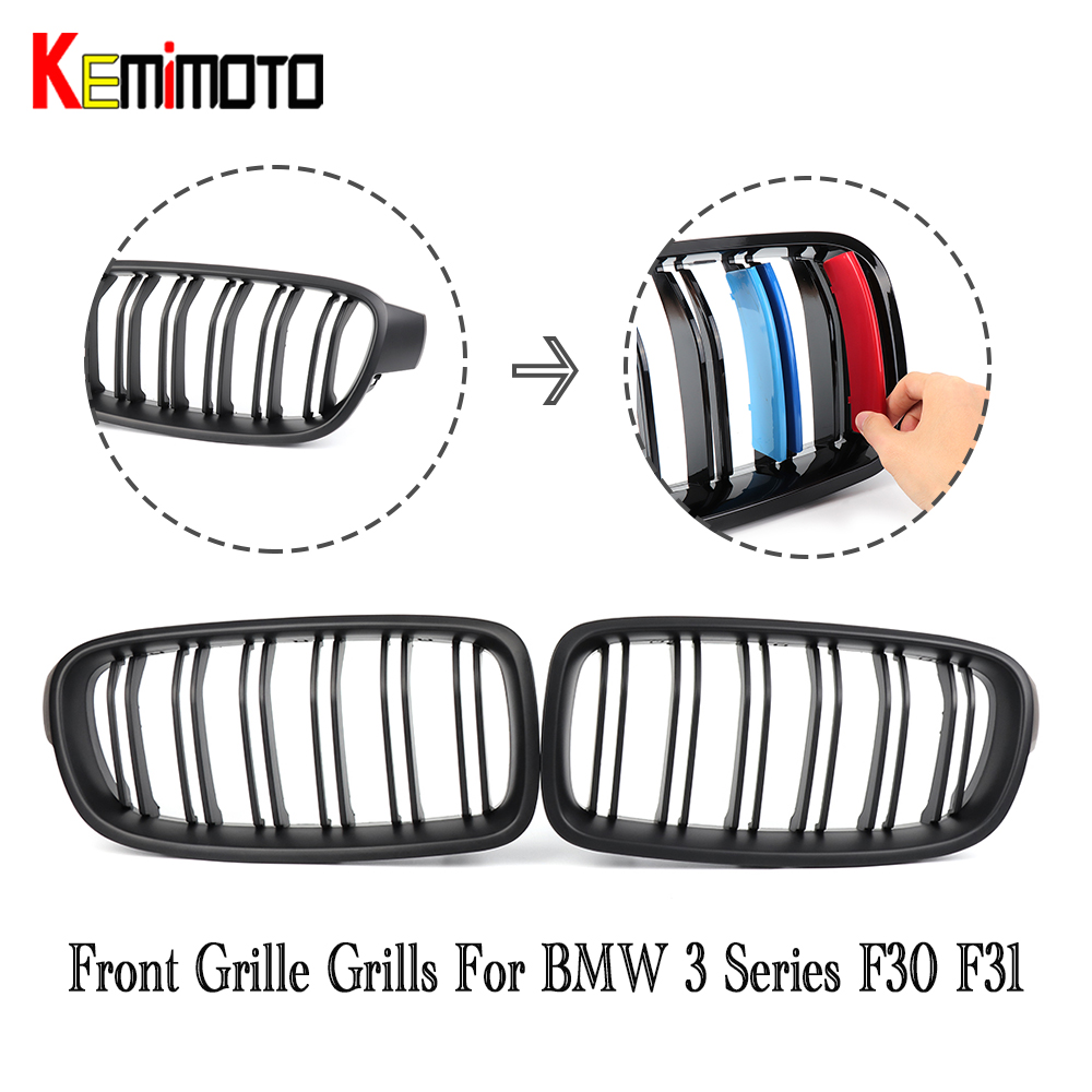F30 F31 Front Grille Grills For BMW 3 Series 328i 335i 316d 318d 320d 2012 2013 2014 2015 2016 51137255411 51137255412 2pcs gloss black car front kidney grilles for bmw f30 f31 3 series saloon 2012 2013 2014 2015 racing grills