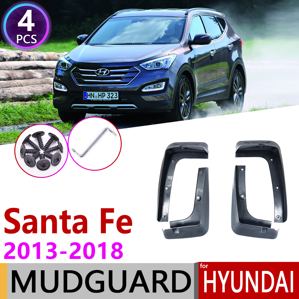 For Hyundai Santa Fe ix45 2013 2018 DM Fender Mudguard Mud Flaps Guard Splash Flap Mudguards Accessories 2014 2015 2016 2017