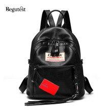 Begutest мода рюкзак сумка, рюкзак 2017 вышивка рюкзаки Дамские туфли из PU искусственной кожи рюкзаки школьные сумки