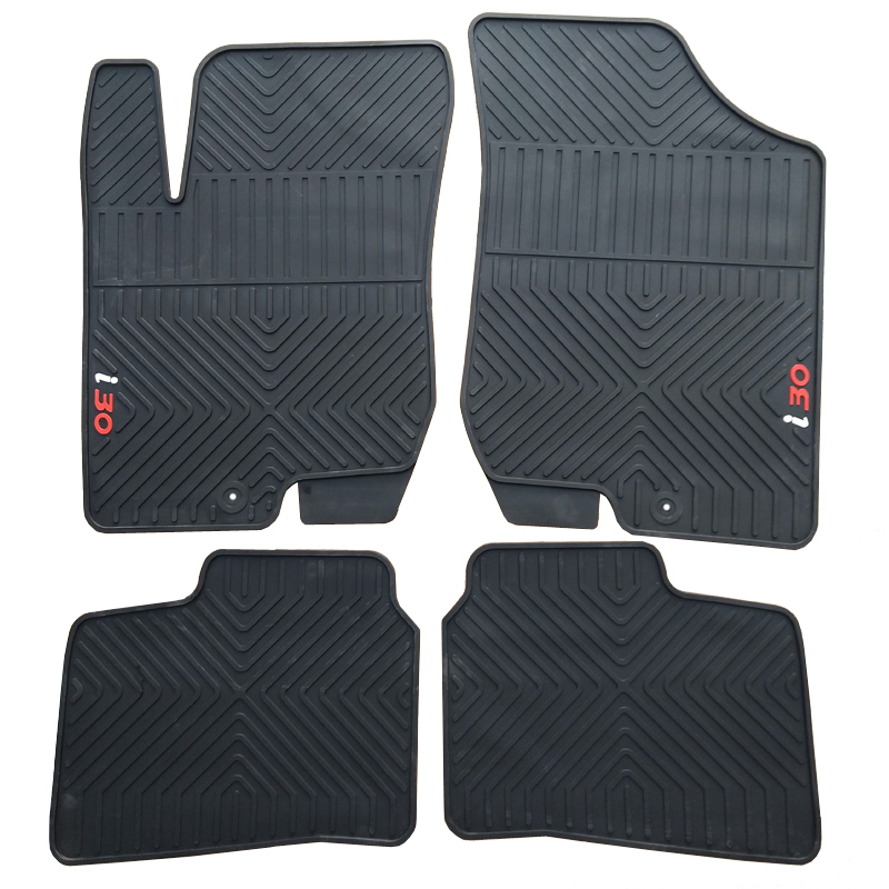 Special rubber car floor mats for 2007-2017 year HYUNDAI IX25 I30 durable waterproof latex carpets for IX25 I30 special rubber latex green car trunk mats case for benz smart desinged for original car model