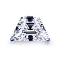 Trapezoid Shape Brilliant cut 10x6x4mm DEF color moissanites Loose Stone Excellent Cut Grade Test Positive