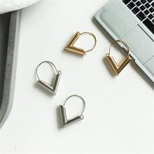 Boucles d'oreilles Triangle en alliage de métal, bijoux à géométrie délicate, Article de bijouterie Simple, nouvelle mode 568, vente en gros