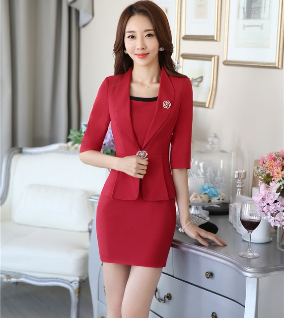 5f06a15f1d2f New Formal OL Styles Professional Spring Autumn Business Women Work Wear  Suits Jackets And Dress Office