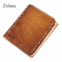 Vegetable Tanned Leather Handmade Custom Short Bifold Design The Secret Life Of Wallet High Quality Male