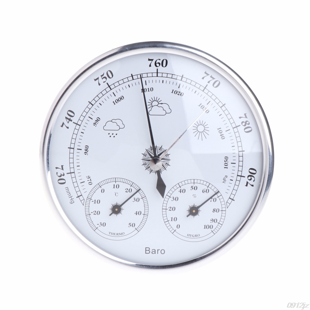 Wall Mounted Household Thermometer Hygrometer High Accuracy Pressure Gauge Air Weather Instrument Barometers New Drop ship