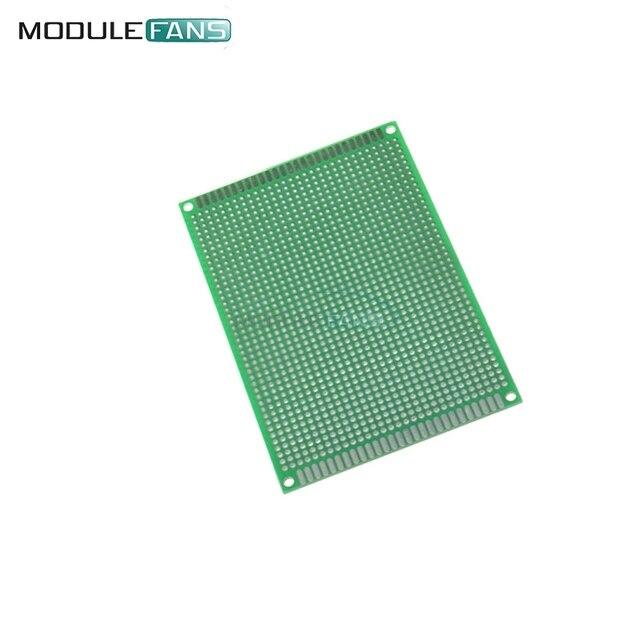8x12 cm KIT de bricolaje prototipo Universal de circuito de Protoboard de doble cara 8*12
