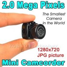 Hot Y2000 Smallest Cmos Super Mini Video Camera Ultra Small Pocket 720*480 DV DVR Camcorder Recorder Web Cam 720P JPG Photo
