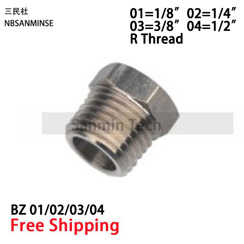 10Pcs/Lot BZ 1/8 1/4 3/8 1/2 Transition Pneumatic Air Fitting Air Quick Coupling Push Fittings Quick Connect Coupler Sanmin