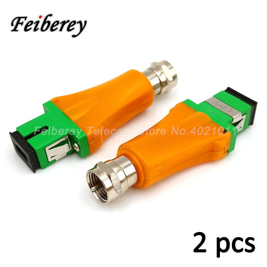 2 stücke Passive Home-based FTTH Optische Empfänger SC/APC RF Weibliche Zoll Stecker CATV Optischen Knoten Empfänger ohne Netzteil
