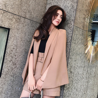 New Korean version of the British European and American fashion irregular cape style jacket suit suit female casual suit