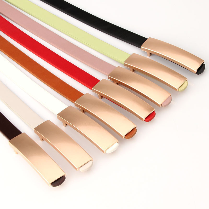 Luxury Metal Buckle Thin Belt Classic Wild Female Minimalist Thin Belt Straps Waistband Cummerbund For Apparel Accessories 2019