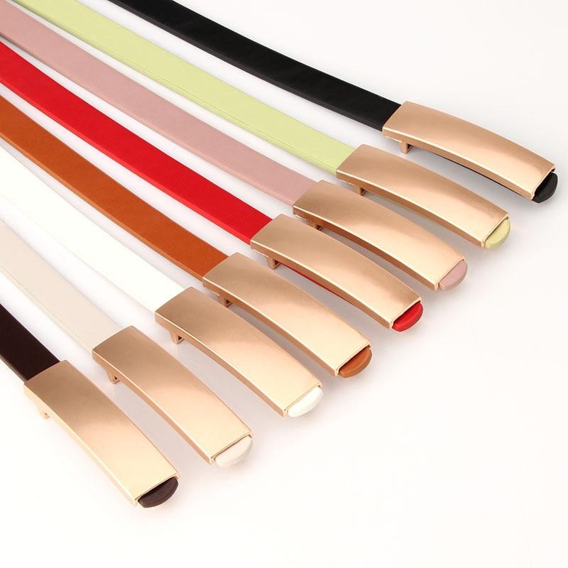 Luxury Metal Buckle Thin Belt Classic Wild Female Minimalist Thin Belt Straps Waistband Cummerbund For Apparel Accessories 2019