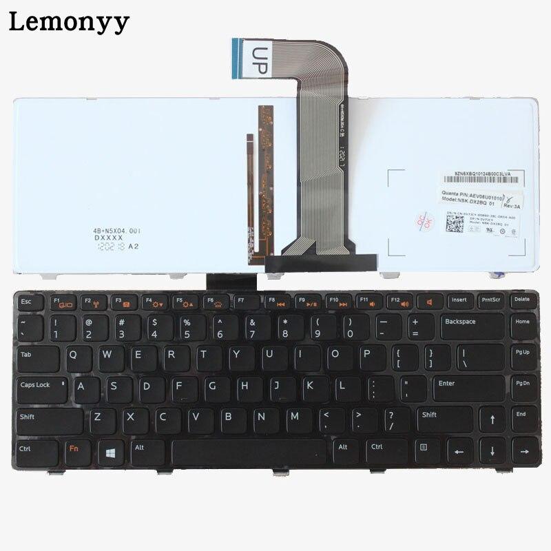 US Keyboard FOR DELL Inspiron 14R N4050 M4040 N4110 N4120 M4110 M521R 14R 5420 7420 15R 5520 SE US Backlight Notebook keyboard tc4h 14r 100