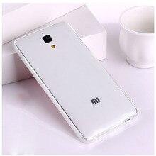 FOR Xiaomi Mi4 M4 Mi 4 Soft mobile phone cover Ultra-thin silicon TPU anti-knock anti-fall 5.0″ case transparent Gradient color