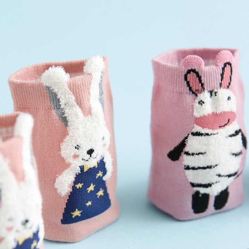 Socks Careful 1 Pairs Cartoon Unicorn Cat Lion Women Socks Cute Animal Ear Cotton Short Socks Girls Funny Ankle Socks Sokken Hot Sale