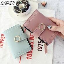 Women Wallets Small Fashion Brand Leather Purse Ladies Card Bag For Women 2018 Clutch Women Female Purse Money Clip Wallet 239 цена