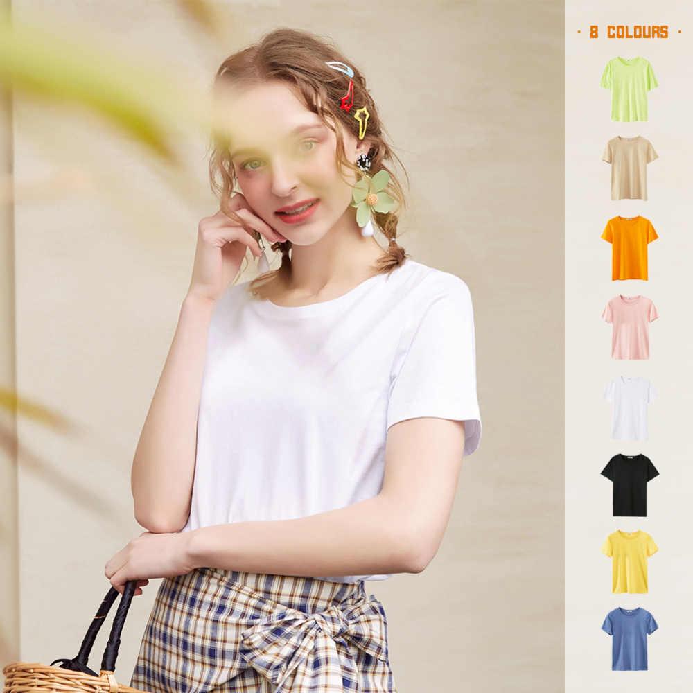 Metersbonwe新綿原宿美学tシャツ無地半袖トップス & tシャツファッションカジュアルカップルtシャツ