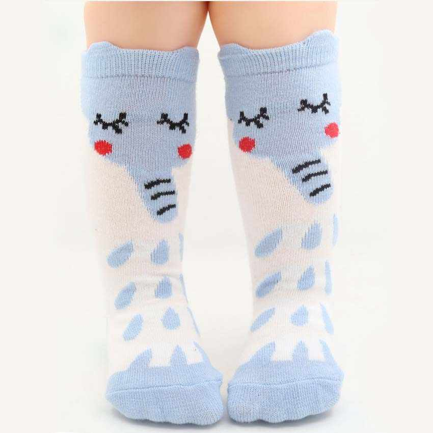Baby Girls Leg Warmer Fox Cotton Cute Little Character Knee Socks Kid Clothing Unisex Toddler Boot Socks Cartoon