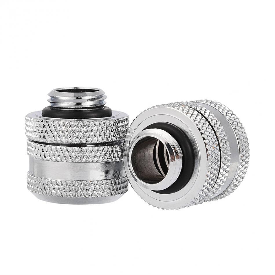 Bykski Water Cooling Compression Fitting For Rigid Tubing 14mm OD G1//4 Chromed