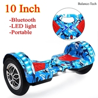 Two Wheel Gyroscope Hoverboard 10 Inch Scooter Oxboard Electric Scooter With LED Light Electric Skateboard Bluetooth