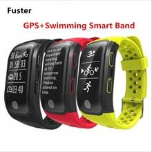 Фустер IP68 Водонепроницаемый GPS смарт-браслет монитор сердечного ритма ЭКГ Режим Smart Band шагомер браслет для Android и IOS телефоны